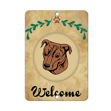 Welcome Mountain Cur Dog Metal Sign - 8 In x 12 In
