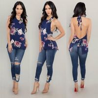 Fashion Women Summer Halter Vest Top Casual Tank T-Shirt Tops Sleeveless Blouse