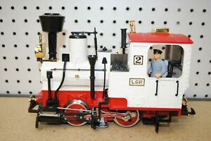 LGB 2020 White Stainz 0-4-0 #2 Steam Locomotive *G-Scale* (Circus/Christmas)