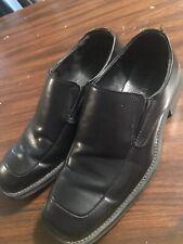 Borelli Black Slip On Dress Shoes Men's Size 11.5M Square Toe