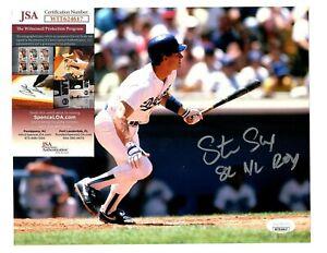 Steve Sax Signed Autograph LA Dodgers 8x10 Photo W/82 NL ROY - JSA WIT624617