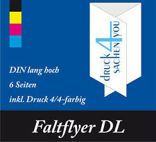 5000 Falzflyer DIN A4 gefalzt auf DL, 135g glz. BD Wickelfalz vollfarbig Skala