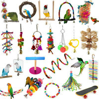 Pet Toy Swing Bird Toy Parrot Harness Cage Hanging Toys For Parakeet Cockatiel