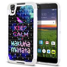 For Alcatel Idol 4 DALK4004/ Nitro 4/ Blackberry DTEK50 Bling Hybrid Case Cover
