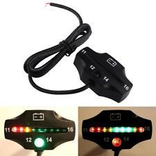 Batería De La Motocicleta Coche Universal LED impermeable Indicador Medidor de Voltaje Pad 12 V