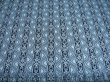 3 Yards Quilt Cotton Fabric - Timeless Treasures Noir Lace Stripe Black Natural