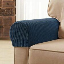 subrtex Spandex Stretch Fabric Armrest Covers Anti-Slip Furniture Protector Armc