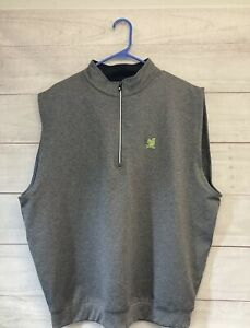 Footjoy The Country Club Brookline Vest Gray Large Green Squirel Top 100