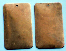 #1393 Vintage Brass or Copper Blank Plates Rectangle Engraving and Stamping NOS