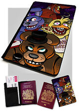 Passport Holder FNAF Printed Faux Leather Cover Case Five Nights at Freddy's