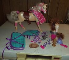 Horse for doll size of a barbie doll and extra head and tail by mattel 2006