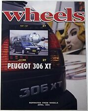 Peugout 306 & 406 1996 Wheels & Auto Express UK Road Test Sales Brochures x2
