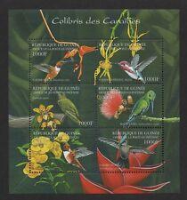 $Guinea Sc#2042 M/NH/VF, short set, sheet/6, birds, Cv. $21.65
