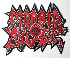 MORBID ANGEL  SHAPED LOGO EMBROIDERED BACK PATCH