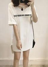 Summer Short Sleeve Dress Student Print Dress T-shitr Dress Plus Size XL