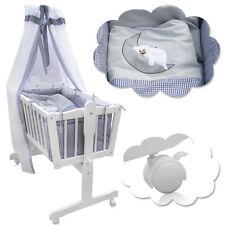 Stubenwagen Schaukelwiege Babywiege Babybett Beistellbett Baby weiß grau bett