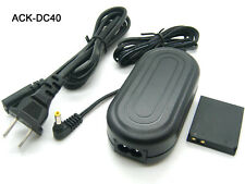 AC Adapter Power Supply Charger For ACK-DC40 Canon CA-PS500 + DR-40 DC Coupler