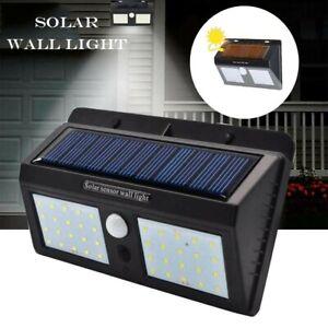 40 LED Waterproof Motion Sensor Solar Outdoor Wall & Garden Solar Panel  Light