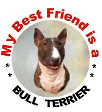 2 Coloured Bull Terrier Car Stickers By Starprint