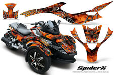 CAN-AM BRP SPYDER RS GS GRAPHICS KIT CREATORX DECALS SPIDERX ORANGE