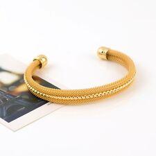 Open Bangle 24K Yellow Gold Filled Adjustable Bracelet Fashion Jewelry