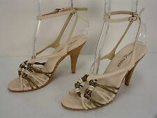 ISABELLA FIORE LEATHER OPEN TOE ANKLE STRAP HIGH HEELS SANDALS WOMEN'S 8 M