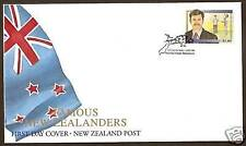 NEW ZEALAND 1995 SIR RICHARD HADLEE CRICKET Single FDC