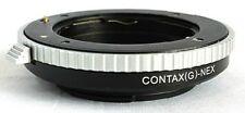 Contax G Lens to Sony NEX E Mount Adapter A6300 A6500 A7 R A7II NEX-6 CG-NEX