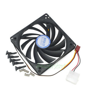 100mm & 90mm x15mm Dual Mounting Holes Cooler Cooling Fan for HTPC Case CPU VGA