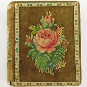 ANTIQUE ENGLISH VICTORIAN MORRIS & YEOMANS FOLD-OUT VELVET BOOK NEEDLE CASE BOX