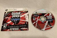 GUITAR HERO VAN HALEN-MICROSOFT XBOX 360-COMPLETE GAME-GAME CASE