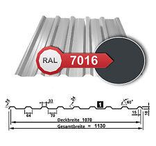 Trapezblech, Dachplatten, Wellblech | T-18 / 0,5mm | Anthrazit - RAL 7016