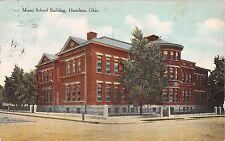 Ohio postcard Hamilton, Miami School Building ca 1909