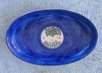 MCM - Signed Cerra Ravello Italian pottery Oval platter/plate Ceramiche D'Arte