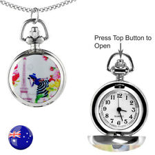 One Paris Tower Lady FOB/Pocket/Necklace Quartz Watch with 80CM Long Chain