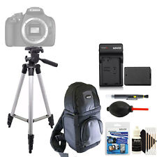 Tall Tripod + Replacement LP-E10 Battery + Screen Protector + 3pc Cleaning Kit