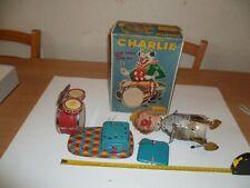 (Z) CHARLIE THE DRUMMING CLOWN AUTOMATE CRAQSTAN TOYS AVEC BOITE
