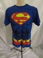 Superman Graphic T-Shirt - Blue w/Red Cape - Men's Medium