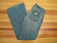 ROCK & REPUBLIC $195 : 25 L29 : Medium Distressed Wide Leg Flare SIOUXSIE Jeans