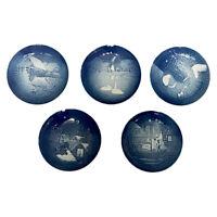 5 Royal Copenhagen Denmark 1950-1977 Annual Collector Porcelain Christmas Plates
