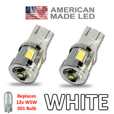 Fits FORD LED Side Light SUPER BRIGHT Bulbs 3w USA W5W 501 T10 250LM – White