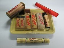 10 Items 1 1/4 RAW ROLLING BUNDLE - ROLLERS,PAPERS,TRAY,CASE,TIPS,TUBE