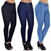 0754097d126e6 WOMENS HIGH WAISTED STRETCHY SKINNY JEANS LADIES BUTT LIFTING FIT JEGGINGS  PANTS