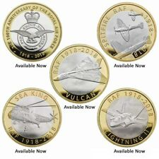 More details for 2018 new sealed £2 raf 100th anniversary coins f-35 vulcan spitfire bu packs
