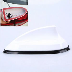 White ABS Roof Fin Antenna SUV Car Radio Receiver Aerial Signal Amplifier Cover