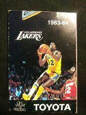 Los Angeles Lakers NBA 1983 / 1984 Season Schedule