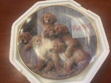 A.S.P.C.A. Adopt A Puppy Franklin Mint Porcelain Collector Plate