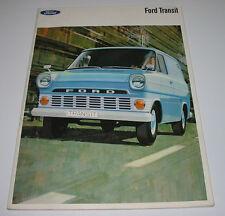 Auto Prospekt Ford Transit Kombiwagen Pritsche Kastenwagen ab Baujahr 1966!