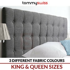 KING & QUEEN Bed Head Stylish Upholstered Fabric Bedhead Headboard for Bed Frame