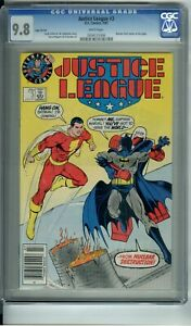 JUSTICE LEAGUE #3 CGC 9.8 WHITE PAGES EARLY LOGO VARIANT SUPERMAN LOGO